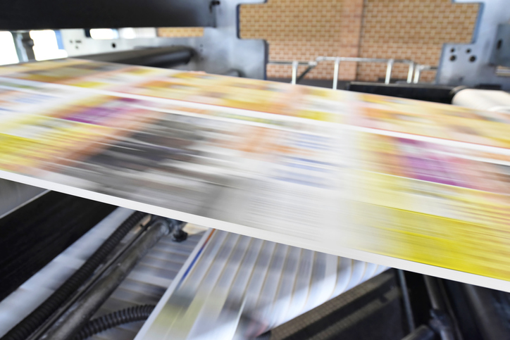 Printer rapidly printing mail