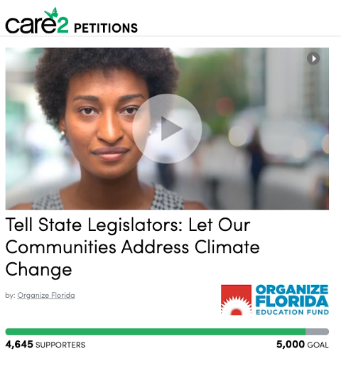 Care2 petition webpage