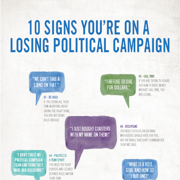 10 Signs You Are on a Losing Political Campaign